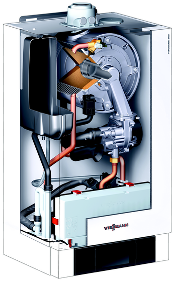 Coupe de la chaudière gaz Viessmann condensation Vitodens 200-W